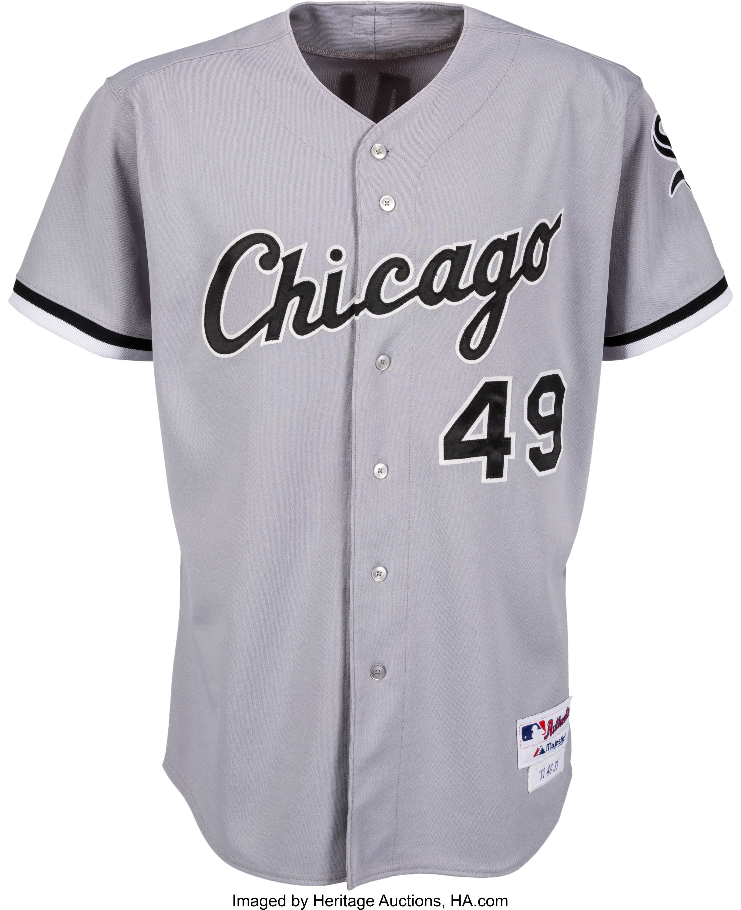 premium selection 0c56f 2e074 2011 Chris Sale Game Worn Chicago White Sox Jersey Purchased ...