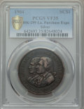 Expositions and Fairs, 1904 Louisiana Purchase Exposition, Official Souvenir Medal,HK-299, VF35 PCGS. Silver....