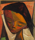 Paintings, Angel Botello (1913-1986). Juan, circa 1965. Oil on Masonite. 16 x 14 inches (40.6 x 35.6 cm). Signed lower right: Bot...