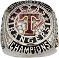 Baseball Collectibles:Others, 2011 Texas Rangers American League Championship Ring....