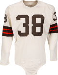 Football Collectibles:Uniforms, Early to Mid 1960's Sam Baker/Stan Sczurek Game Worn Cleveland Browns Jersey....