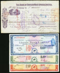 Canadian Currency: , Canada and More.. Canada $1 1962 Political Note;. Walkerton, ON-Merchants Bank of Canada Checks Various Amounts 1917-19 (2)...(Total: 7 items)