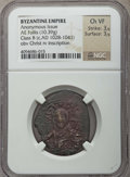 Ancients:Byzantine, Ancients: Anonymous. Class B (ca. AD 1028-1041). AE follis (10.39gm). NGC Choice VF 3/5 - 3/5....