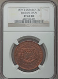 Dominican Republic, Dominican Republic: Republic bronze Proof 2 Centavos Essai 1878-EPR62 Red and Brown NGC,...