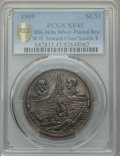 Expositions and Fairs, 1909 Alaska-Yukon-Pacific Exposition, W.H. Seward, Chief Seattle So-Called Dollar, HK-363a, XF45 PCGS. Silver-plated bronze....