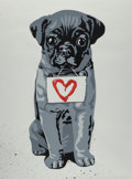Fine Art - Work on Paper:Print, Mr. Brainwash (b. 1966). Heart Dog, 2009. Screenprint withhandcoloring on wove paper. 30 x 22-1/2 inches (76.2 x 57.2 c...