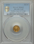 Expositions and Fairs, 1939 Charbneau Dollar, HK-488, MS62 PCGS. Gold....