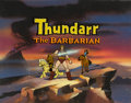 Animation Art:Production Cel, Thundarr the Barbarian Main Title Cel and Key MasterBackground (Ruby-Spears, 1980). ...