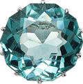 Estate Jewelry:Rings, Aquamarine, White Gold Ring. ...