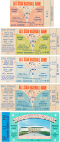 Baseball Collectibles:Tickets, 1964-68 All-Star Game Ticket Stubs Lot of 5. ... (Total: 22 item)