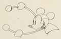 Animation Art:Production Drawing, Steamboat Willie Mickey Mouse Animation Drawing (WaltDisney, 1928)....