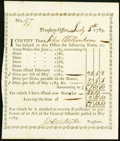 Colonial Notes:Connecticut, Connecticut Treasury Office Transfer Certificate £51.10.10 July 8,1789 Anderson CT-27 About New.. ...