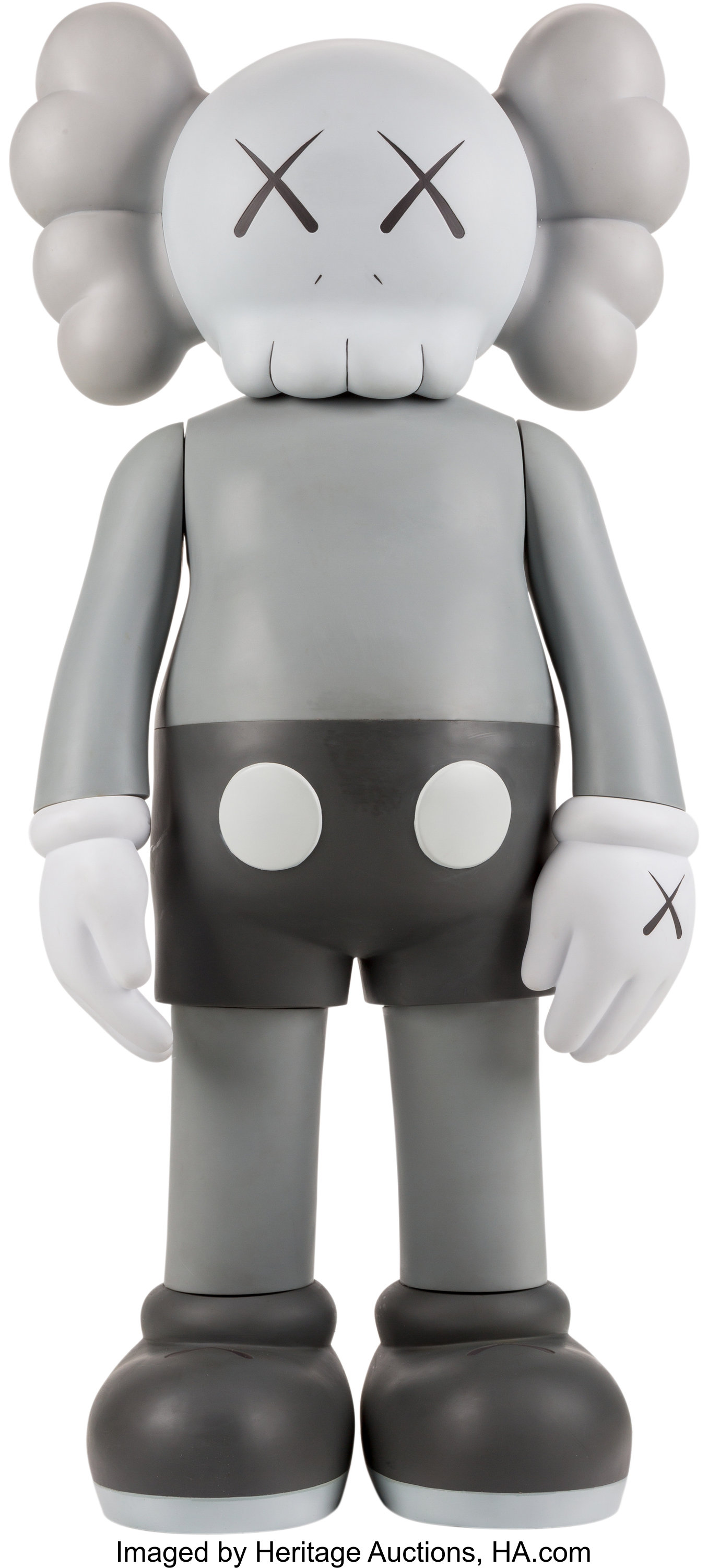 cfed9b97 KAWS (b. 1974). Companion (Grey), 2007. Painted cast vinyl. 50 x 22 | Lot  #69068 | Heritage Auctions