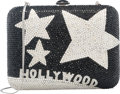 """Luxury Accessories:Bags, Judith Leiber Full Bead Black & Silver Crystal HollywoodMinaudiere Evening Bag . Condition: 1. 6"""" Width x 5.5""""Height..."""
