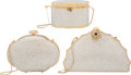 "Luxury Accessories:Bags, Judith Leiber Set of Three; Full Bead White Crystal MinaudiereEvening Bags. Condition: 1. 8"" Width x 5"" Height x 2"" Dep...(Total: 3 Items)"