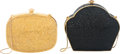 "Luxury Accessories:Bags, Judith Leiber Set of Two; Full Bead Black & Gold CrystalMinaudiere Evening Bags. Condition: 1. 5"" Width x 5""Length x... (Total: 2 Items)"