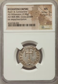 Ancients:Byzantine, Ancients: Basil I (AD 867-886) and Constantine (AD 868-879). ARmiliaresion (2.98 gm). NGC MS 5/5 - 5/5. ...