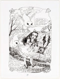 Original Comic Art:Splash Pages, Dame Darcy Meat Cake #10 Splash Page 19 Original Art(Fantagraphics, 1999)....