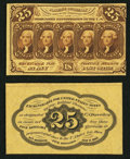 Fractional Currency:First Issue, Fr. 1282SP 25¢ First Issue Narrow Margin Pair Choice New.. ... (Total: 2 notes)