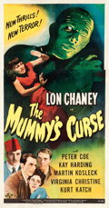 "Movie Posters:Horror, The Mummy's Curse (Universal, 1944). Three Sheet (41.5"" X 78"")....."
