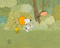 Animation Art:Production Cel, Snoopy Come Home Woodstock and Snoopy Production Cel Setupwith Master Background (Bill Melendez, 1972). ...