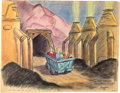 "Animation Art:Concept Art, Bible Storyland ""Trip Through Solomon's Mines"" Concept Hand-Embellished Print (1959). ..."