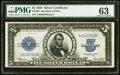 Large Size:Silver Certificates, Fr. 282 $5 1923 Silver Certificate PMG Choice Uncirculated 63.. ...