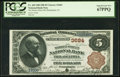 National Bank Notes:Pennsylvania, Philadelphia, PA - $5 1882 Brown Back Fr. 469 The Market Street NBCh. # 3684. ...
