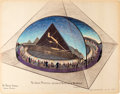 "Animation Art:Concept Art, Bible Storyland ""The Great Pyramid: Legend of Mystery andProphecy"" Concept Hand-Embellished Print (1959). ..."
