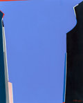 Post-War & Contemporary, Saliba Douaihy (1915-1994). Untitled (Purple). Oil oncanvas. 32 x 26 inches (81.3 x 66.0 cm). Signed lower right: Y....