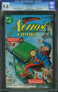 Action Comics #475 (DC, 1977) CGC NM/MT 9.8 Off-white pages