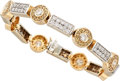 Estate Jewelry:Bracelets, Colored Diamond, Diamond, Gold Bracelet . ...