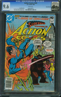 Action Comics #505 - Rocky Mountain (DC, 1980) CGC NM+ 9.6 White pages
