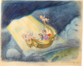 "Animation Art:Concept Art, Bible Storyland ""Ride to Heaven"" Concept Hand-EmbellishedPrint (1959). ..."