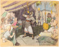 "Animation Art:Concept Art, Bible Storyland ""Street of the Fakirs"" ConceptHand-Embellished Print (1959). ..."