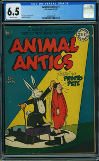 Animal Antics #1 (DC, 1946) CGC FN+ 6.5 Off-white pages