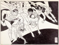 Animation Art:Concept Art, DC and Marvel Underoos Illustration by Alex Toth (DC/Marvel/Fruitof the Loom, c. 1977-81). ...