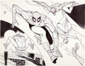 Animation Art:Concept Art, Spider-Man Underoos Illustration by Alex Toth (Marvel/Fruit of theLoom, c. 1977-81). ...