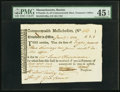 Colonial Notes:Massachusetts, Commonwealth of Massachusetts Treasury Tax Collector's Certificate£8.3.2 Anderson MA-38 PMG Choice Extremely Fine 45 EPQ.. ...