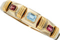 Estate Jewelry:Bracelets, Blue Topaz, Pink Tourmaline, Gold Bracelet . ...