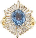 Estate Jewelry:Rings, Sapphire, Diamond, Gold Ring-Dant The ring-dan...