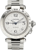Estate Jewelry:Watches, Cartier Gentleman's Stainless Steel Pasha Watch. ...