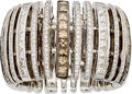 Estate Jewelry:Rings, Diamond, Colored Diamond, White Gold Eternity Band. ...