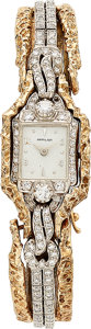 Estate Jewelry:Watches, Hamilton Lady's Diamond, Gold Watch. ...