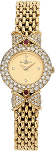 Estate Jewelry:Watches, Baume & Mercier Lady's Diamond, Ruby, Gold Watch. ...
