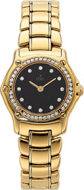 Ebel Lady's Diamond, Gold 911 Watch