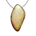 Estate Jewelry:Necklaces, Opal, Diamond, Rose Gold Necklace. ...