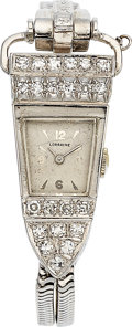 Estate Jewelry:Watches, Swiss Lady's Diamond, White Gold Watch. ...