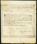 Colonial Notes:Massachusetts, Massachusetts Treasury Loan Certificate £10 Mar. 1, 1781 AndersonMA-10 Very Fine.. ...