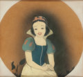 Animation Art:Production Cel, Snow White and the Seven Dwarfs Snow White Production Cel Courvoisier Setup (Walt Disney, 1937)....